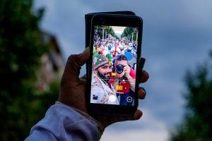 Selfie con un participante del festival