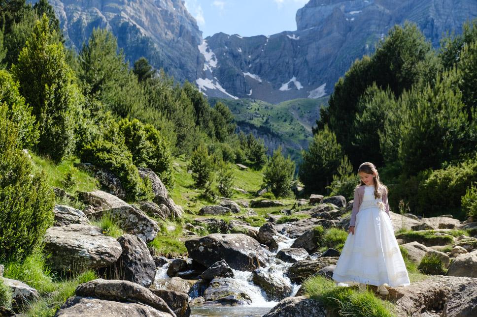 Fotografía de Comunión en el Pirineo Aragónés.